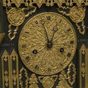 A French 19th Century Bronze and Ormolu Gothic Cathedral Clock Alternate image
