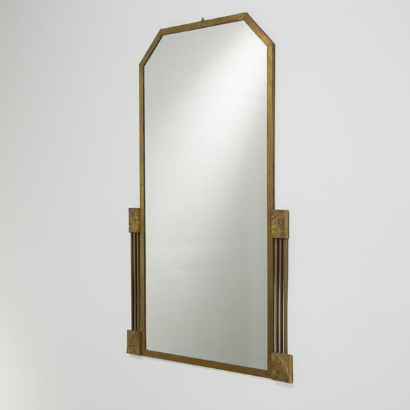A French Bronze Framed Art Deco Mirror 1920s
