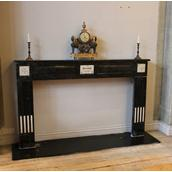 A French Napoleonic Black and White Marble Fireplace 1810 main image