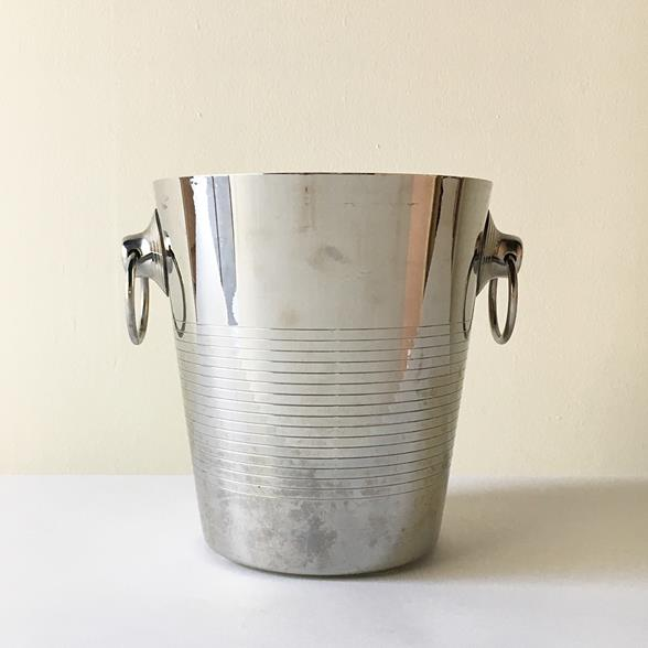 A French Stainless Steel Ice Bucket by Letang Remy