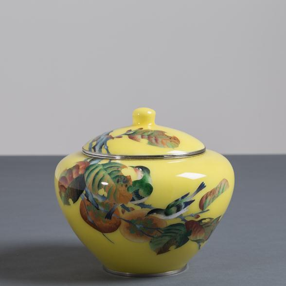 A Japanese Cloisonné Enamel Vase attributed to Shobido