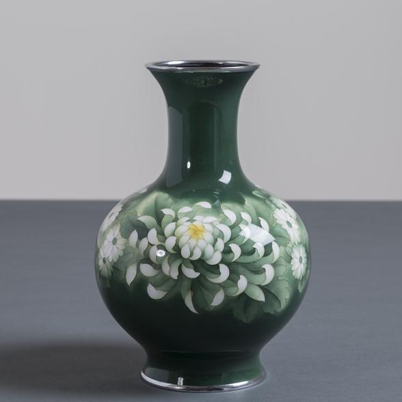 A Japanese Cloisonne Enamel Vase attributed to Inarba