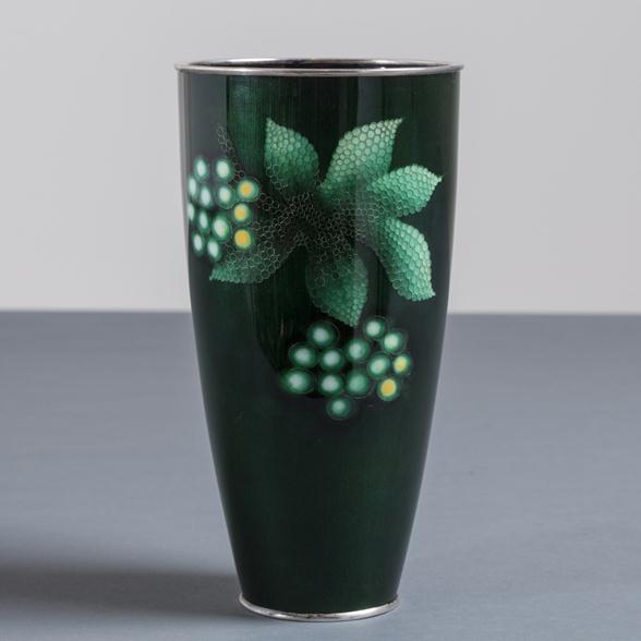A Japanese Cloisonne Enamel Vase by Ando circa 1950