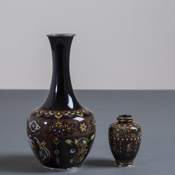 A Japanese Cloisonne Enamel Vase by Inaba 1990s
