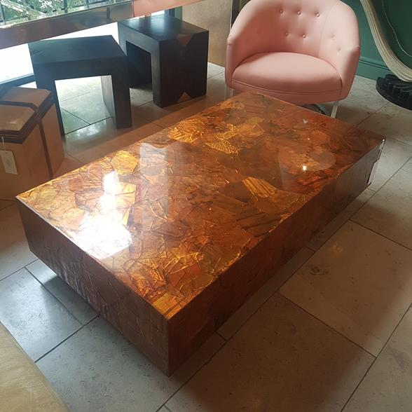 A Lacquered Copper Coffee Table USA 1970s