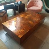 A Lacquered Copper Coffee Table USA 1970s main image