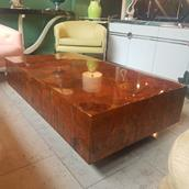 A Lacquered Copper Coffee Table USA 1970s Alternate image