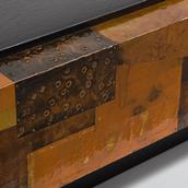A Lacquered Copper Patchwork Coffee Table 1970s Alternate image