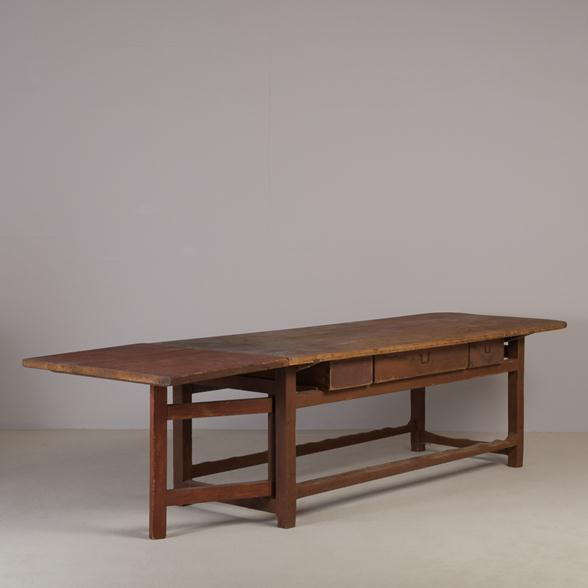 A Large Extending Swedish Dining Table circa 1820