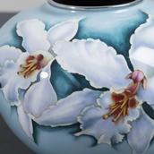 A Large Japanese Cloisonné Pale Blue Enamel Vase circa 1960  Alternate image