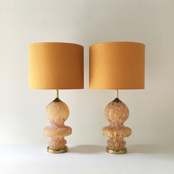A Large Pair of Murano Glass Table Lamps 1970s