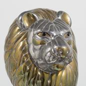 A Large Sergio Bustamante Bust of a Lion signed and editioned  Alternate image