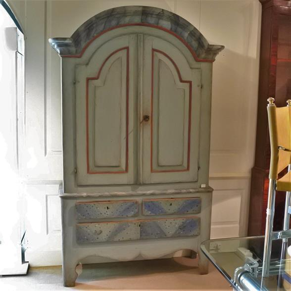A Large Swedish Painted Cupboard circa 1810