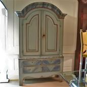 A Large Swedish Painted Cupboard circa 1810 main image