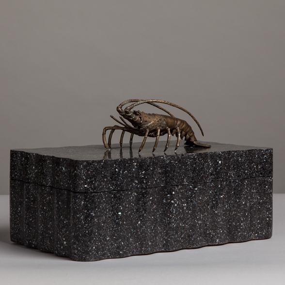 A Maitland Smith designed Box with Cast Lobster Handle