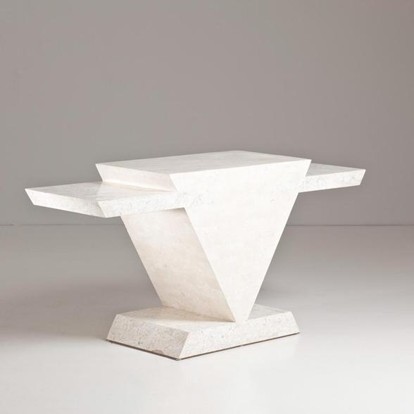 A Maitland Smith designed Stone Console Table 1980s