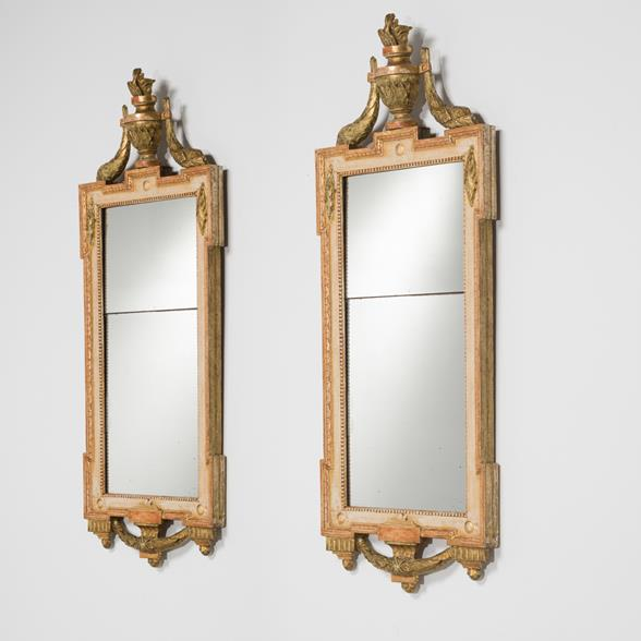 A Matched Pair of Swedish Gustavian Mirrors circa 1780