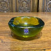 A Murano Cenedese Olive Green Ashtray, stamped main image