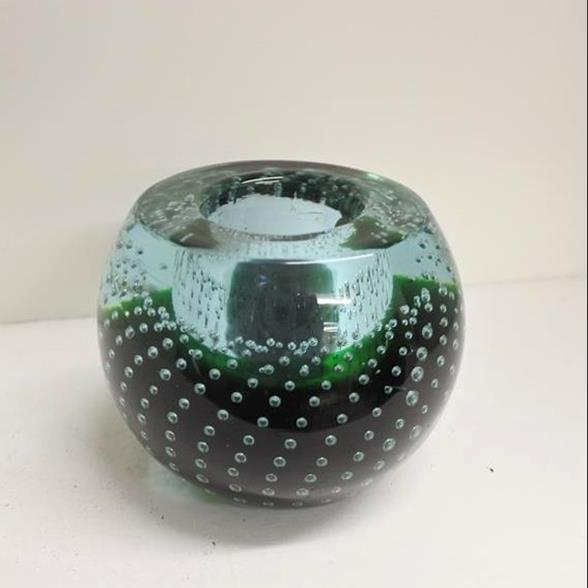 A Murano Sommerso Glass Sphere