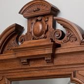 A Pair of 19th Century Irish Neoclassical Carved Walnut Mirrors Alternate image
