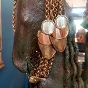 A Pair of Brass and Copper Earrings main image