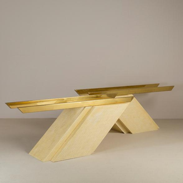 A Pair of Cantilevered Console Tables by Enrique Garcez 1980s