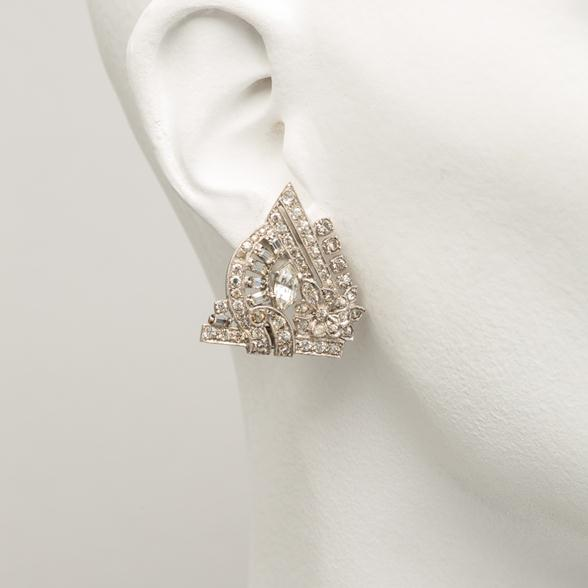 A Pair of Diamante Deco Earrings