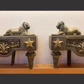 A Pair of French Empire Fire Dogs circa 1820 Alternate image