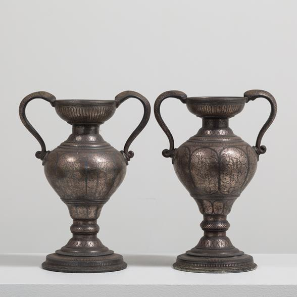 A Pair of Indian Kashmir Vases circa 1870