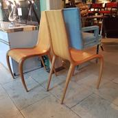 A Pair of Sculptural Bentwood Chairs 1950s Alternate image
