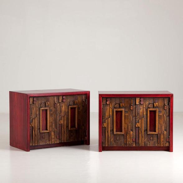 A Pair of Side Cabinets designed by Lane, Altavista USA 1960s