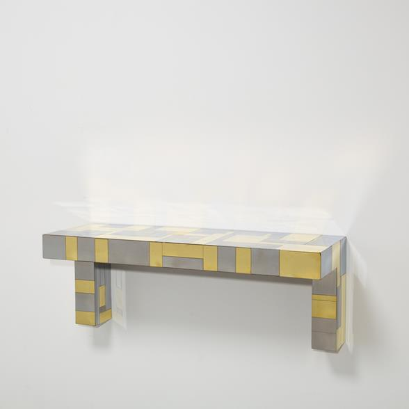 A Paul Evans designed Cityscape Wall Hung Console Table ca.1975