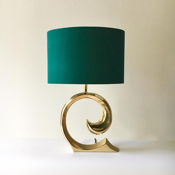 A Pierre Cardin attributed Polished Brass Table Lamp 1970s
