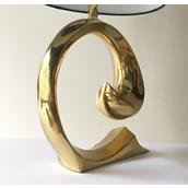 A Pierre Cardin attributed Polished Brass Table Lamp 1970s Alternate image