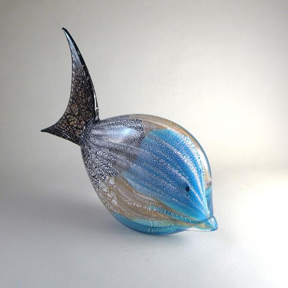 A Rare Murano Glass Fish Sculpture