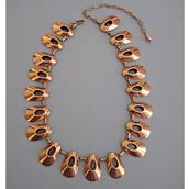 A 'Renoir' Copper Tone Necklace and Earrings Set Alternate image