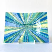A Riviera Higgins Rectangular Fused Glass Ashtray  main image