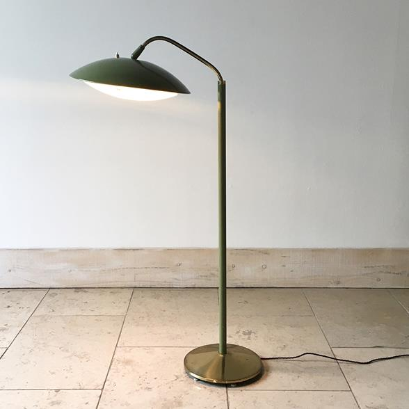 A Sage Green Floor Lamp by Gerald Thurston 1950s