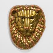 A Sergio Bustamante Brass and Copper Lion Mask 1960s main image
