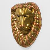 A Sergio Bustamante Brass and Copper Lion Mask 1960s Alternate image