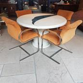 A Set of Four Brueton Style Cantilevered Chairs 1970s main image