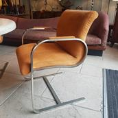 A Set of Four Brueton Style Cantilevered Chairs 1970s Alternate image