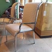 A Set of Six Dining Chairs by Milo Baughman 1970s main image