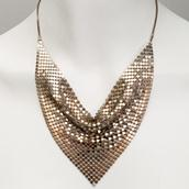 A Silver Mesh Chainmail Necklace 1980s main image
