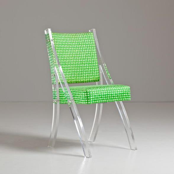 A Single Lucite Chair