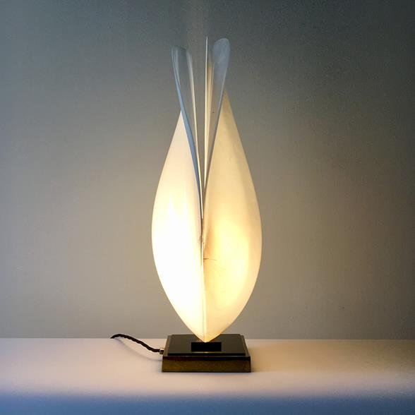 A Single Rougier Tulip Table Lamp 1970s