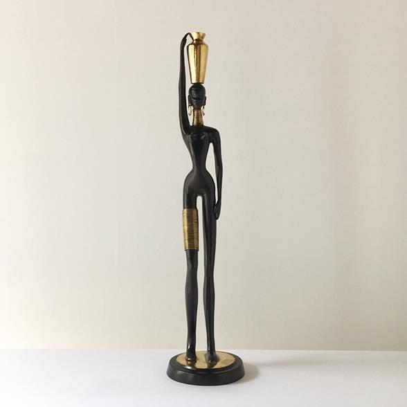 A Small Hagenauer Style Nubian Woman Sculpture