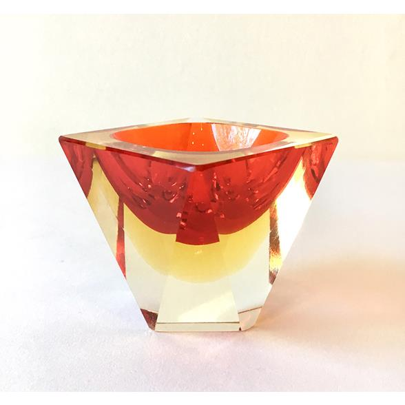A Small Murano Sommerso Glass Ashtray