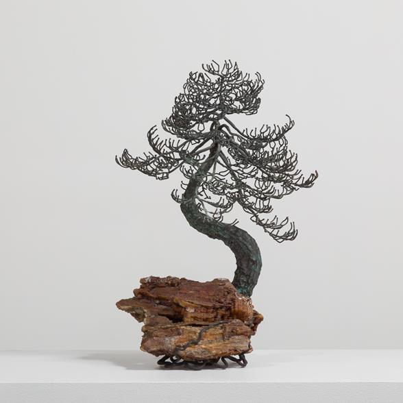 A Superb Bronze Bonsai Tree Table Sculpture 1960s