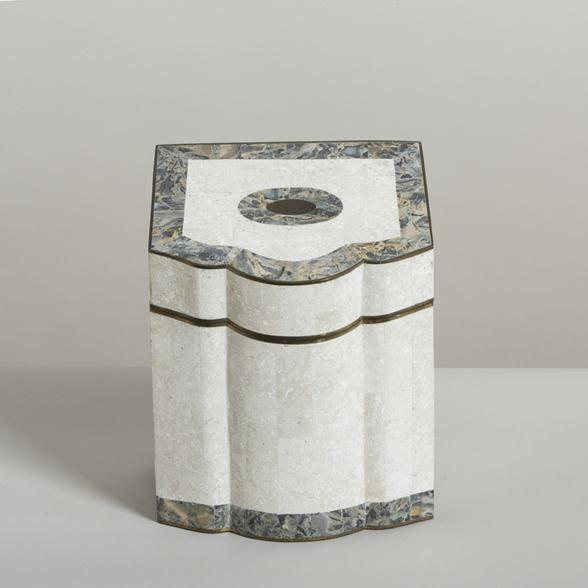 A Tessellated Stone and Marble Veneered Box by Maitland Smith 1980s